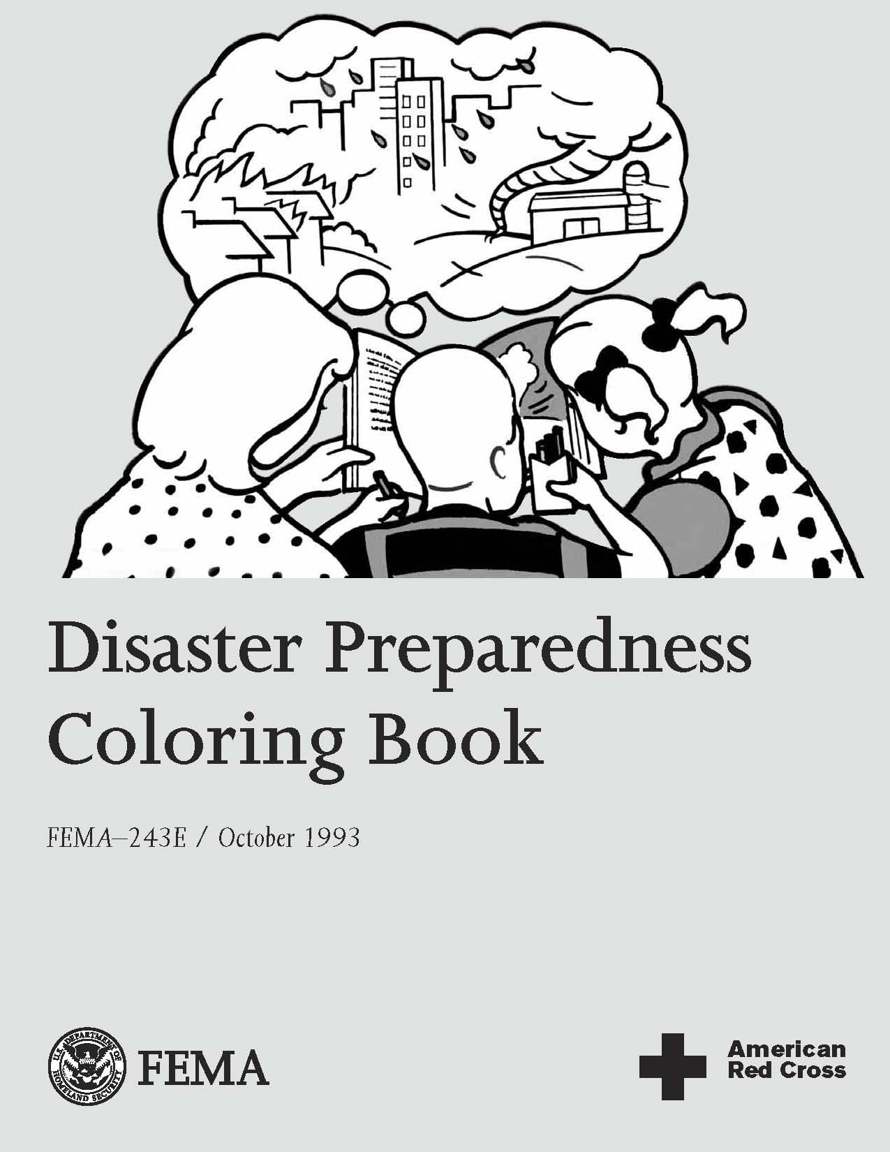 Disaster Preparedness Coloring Book FEMA 243E PDF 926 KB TXT 25 Available In Spanish 612 For Ages 3 10