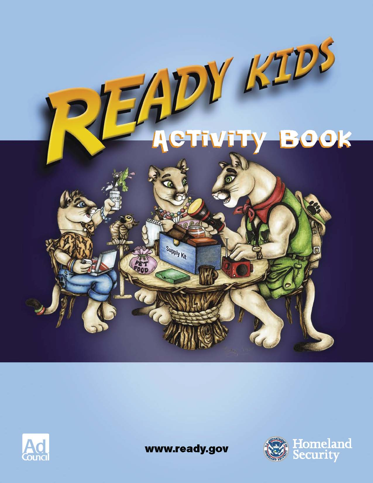 Ready Kids Activity Book PDF Disaster Preparedness Coloring